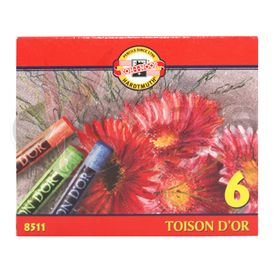 Estojo-de-Giz-Pastel-Seco-Toinson-Dor-com-6-cores