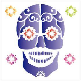 10X10-Simples-Caveira-Mexicana-OPA1177-Colorido