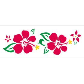 10x30-Simples-Flores-Hibiscos-OPA496-Colorido