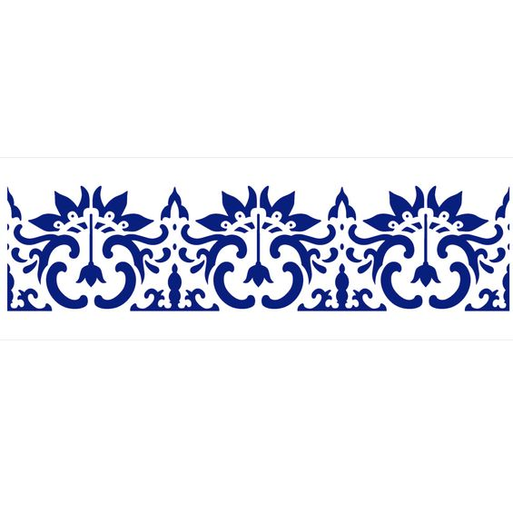 Stencil-de-Acetato-para-Pintura-10x30-Simples-Barra-Arabesco-Flor-Colorido-OPA2220