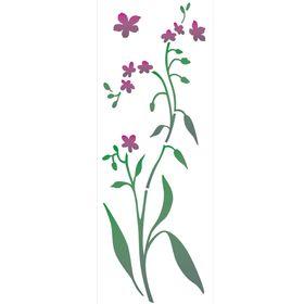 Stencil-de-Acetato-para-Pintura-10x30-Simples-Flor-Miosotis-Colorido-OPA2224