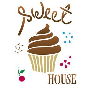 Stencil-de-Acetato-para-Pintura-15x20-Simples-Doces-Sweet-House-Colorido-OPA2238