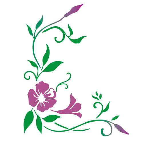 Stencil-de-Acetato-para-Pintura-20x25-Simples-Cantoneira-Mandevilla-Colorido-OPA2264
