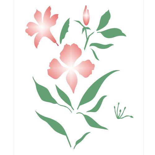 Stencil-de-Acetato-para-Pintura-20x25-Simples-Flor-Astromelia-Colorido-OPA2275