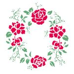 Stencil-de-Acetato-para-Pintura-305x305-Simples-Mandala-Rosas-Colorido-OPA2301