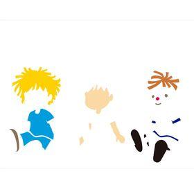 Stencil-de-Acetato-para-Pintura-32x42-Simples-Infantil-Boneco-Colorido-OPA2305