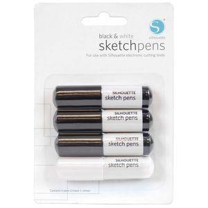 sketchpens-black-e-white-silhouette
