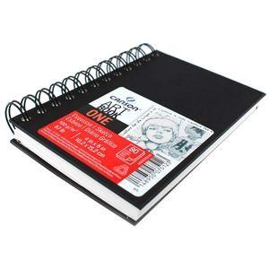 10d6c4418889 Caderneta Espiralada para Esboço Canson – Art Book One Preto 100g m² 10