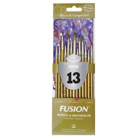 Kit-Fusion-Round-com-13-pinceis-RFUS-304-Royal---Langnickel