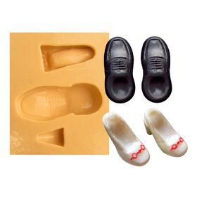 e869d50e3e Molde de Silicone para Biscuit Casa da Arte - Modelo  Sapato de Noivos 1147