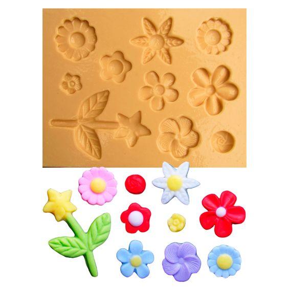 Moldes-silicone-Conjunto-de-Flores-1187
