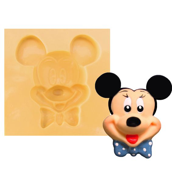 2bd8492e208f1 Molde de Silicone para Biscuit - Mickey 242 - Shopping do Artesanato