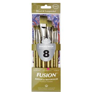 Kit-Fusion-ShaderWash-com-8-pinceis-RFUS-303