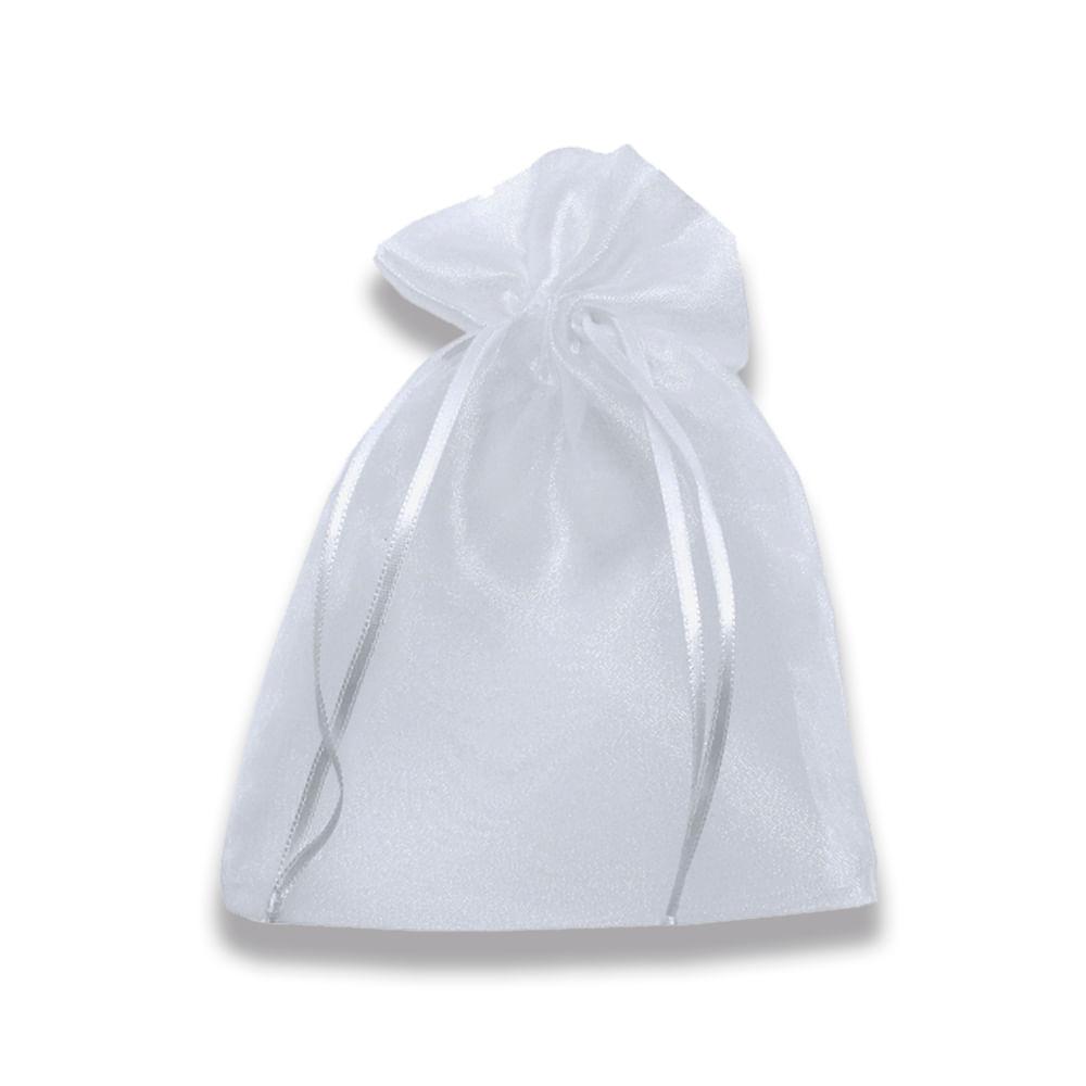 13e0de738 Saco de Organza Branco Transparente Lore 09 x 12 cm - CasaDaArte