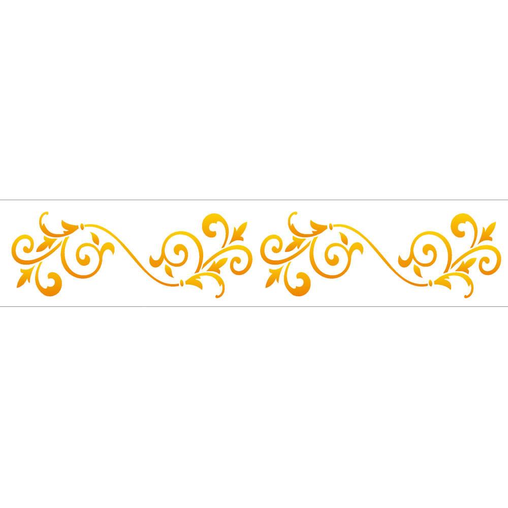 Muito Stencil de Acetato para Pintura OPA 06 x 30 cm - 1202 Arabesco  BZ49