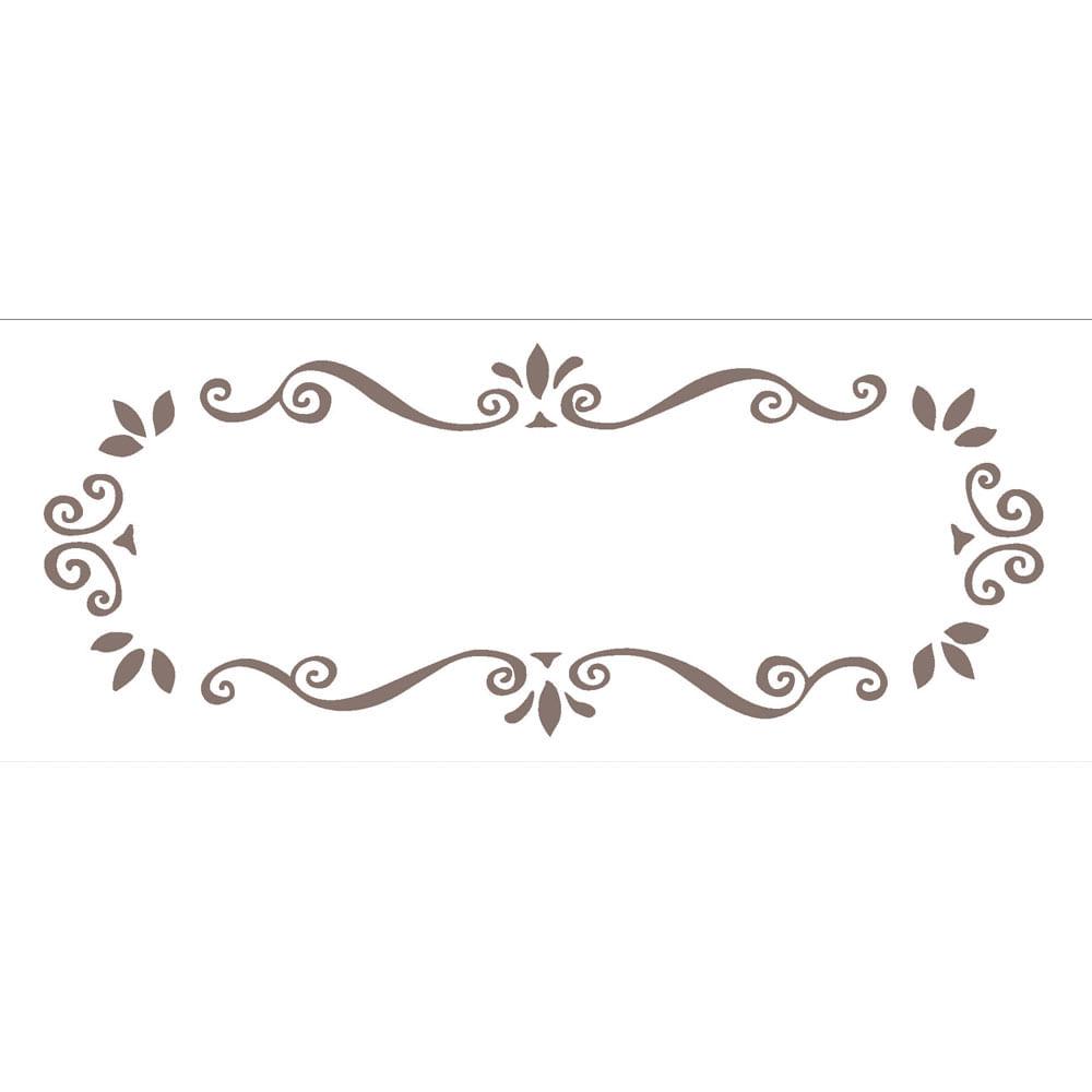 Excepcional Stencil de Acetato para Pintura OPA Simples 10 x 30 cm - 716  ED03