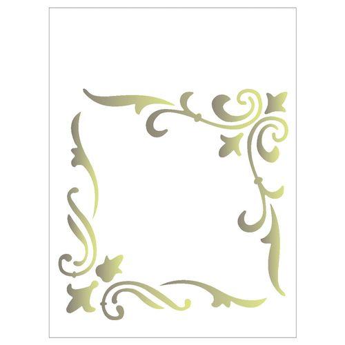 Stencil De Acetato Para Pintura Opa Simples 10 X 30 Cm 716
