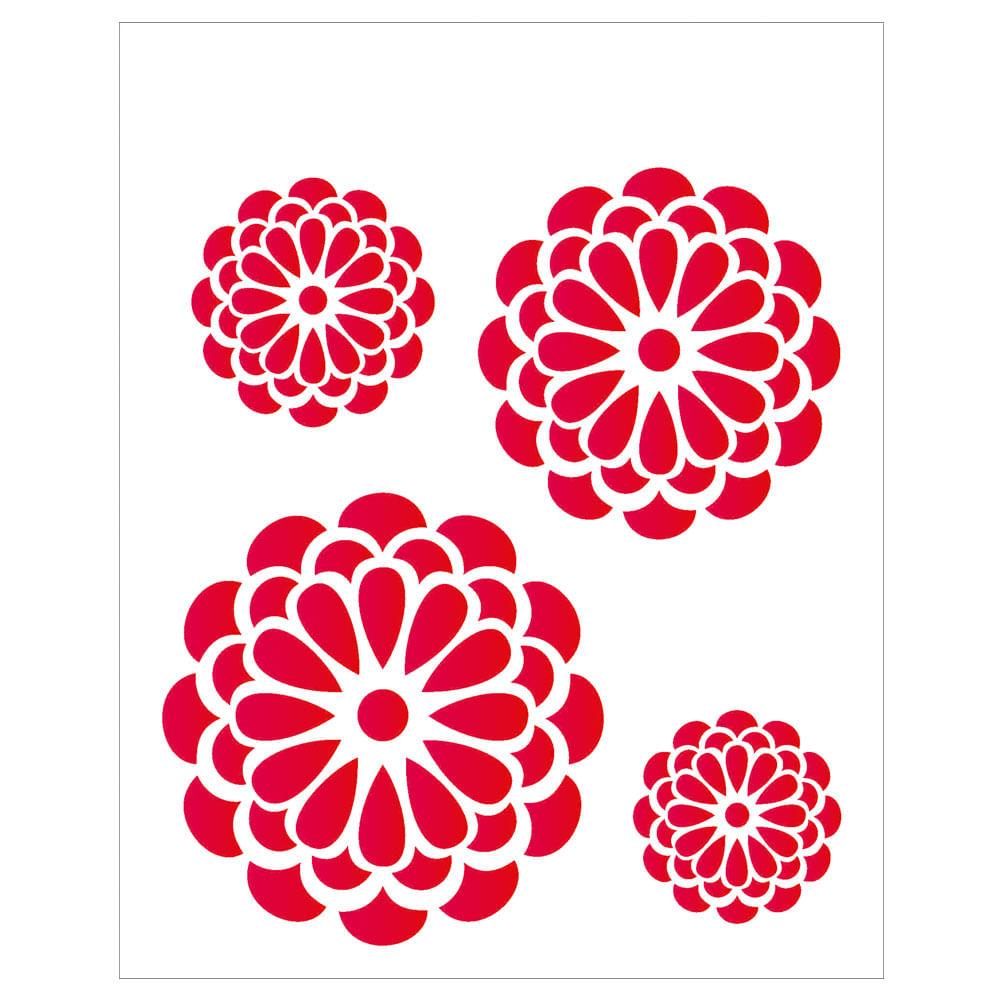 Stencil De Acetato Para Pintura Opa 20 X 25 Cm 1245 Flores
