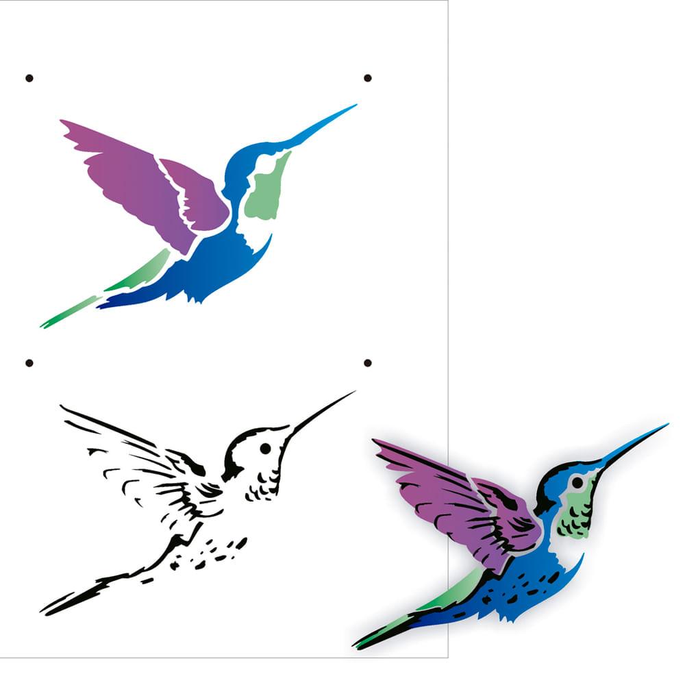 Stencil De Acetato Para Pintura OPA Simples 15 X 20 Cm