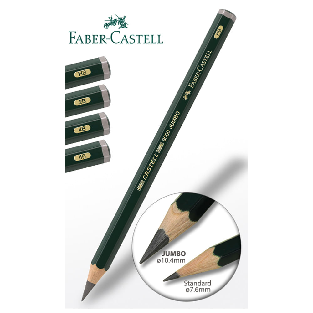 Lapis Grafite Jumbo Faber Castell Castell Jumbo 9000 6b 119306