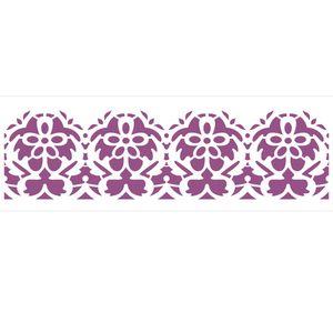 Stencil-de-Acetato-para-Pintura-10x30-Simples-Arabesco-Ornamento-II-Colorido-OPA2219