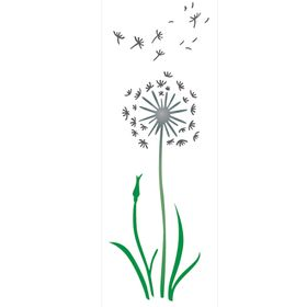 Stencil-de-Acetato-para-Pintura-10x30-Simples-Flor-Dente-de-Leao-Colorido-OPA2222