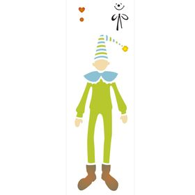 Stencil-de-Acetato-para-Pintura-10x30-Simples-Infantil-Palhaco-Colorido-OPA2230