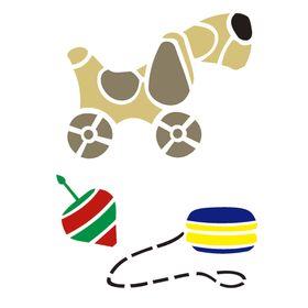 Stencil-de-Acetato-para-Pintura-15x20-Simples-Infantil-Brinquedos-Colorido-OPA2250
