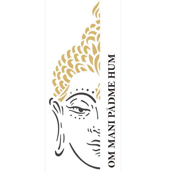 Stencil-de-Acetato-para-Pintura-17x42-Simples-Religiao-Buda-Colorido-OPA2257