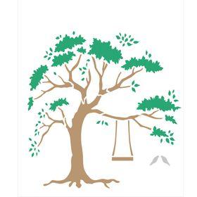 Stencil-de-Acetato-para-Pintura-20x25-Simples-Arvore-Colorido-OPA2260