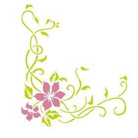 Stencil-de-Acetato-para-Pintura-20x25-Simples-Cantoneira-Flores-e-Ramos-Colorido-OPA2263