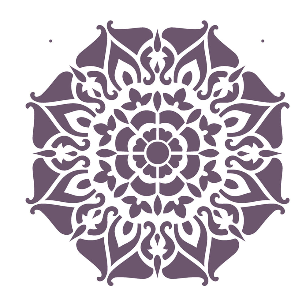 Stencil De Acetato Para Pintura Opa 20x25 2282 Mandala Ii Camada I