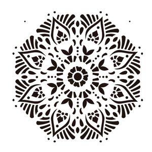 Stencil-de-Acetato-para-Pintura-20x25-Simples-Mandala-II-Camada-II-Colorido-OPA2283