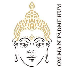 Stencil-de-Acetato-para-Pintura-20x25-Simples-Religiao-Buda-Colorido-OPA2288