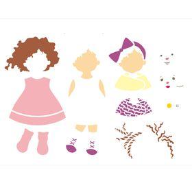 Stencil-de-Acetato-para-Pintura-32x42-Simples-Infantil-Boneca-Colorido-OPA2304