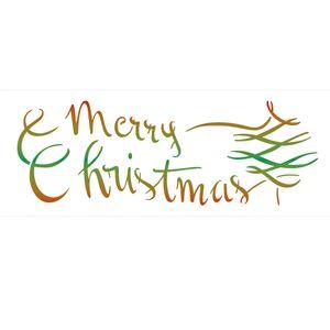 Stencil-de-Acetato-para-Pintura-10x30-Simples-Merry-Christmas-Colorido-OPA2308