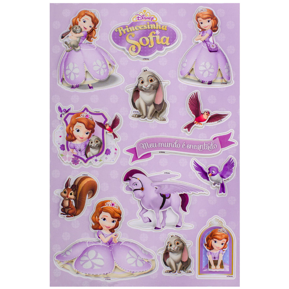 Adesivo 3d Disney Toke E Crie Princesinha Sofia 19582 Add06