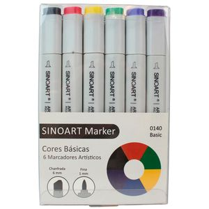Marcador-Artistico-Profissional-Marker-Sinoart-–-0140---06-Cores-–-Tons-Basicas