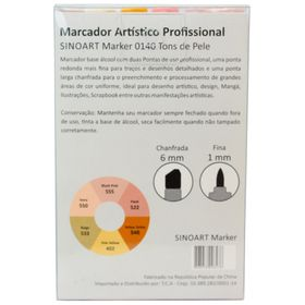 Marcador-Artistico-Profissional-Marker-Sinoart-–-0140---06-Cores-–-Tons-Pele-Skin-2