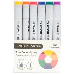 Marcador-Artistico-Profissional-Marker-Sinoart-–-0140---06-Cores-–-Tons-Secundarios-1