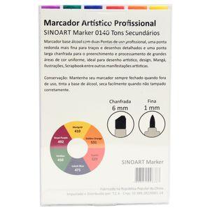 Marcador-Artistico-Profissional-Marker-Sinoart-–-0140---06-Cores-–-Tons-Secundarios-2