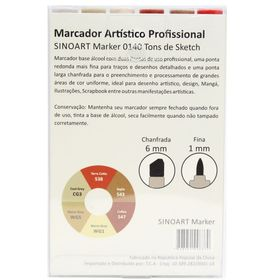 Marcador-Artistico-Profissional-Marker-Sinoart-–-0140---06-Cores-–-Tons-Sketch-2