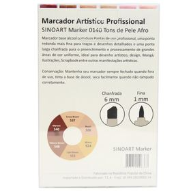 Marcador-Artistico-Profissional-Marker-Sinoart-–-0140---06-Cores-–-Tons-de-Pele-Afro-2