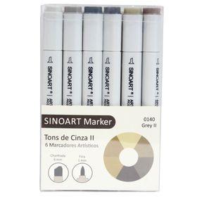 Marcador-Artistico-Profissional-Marker-Sinoart-–-0140---06-Cores-–-Cinza-II-1