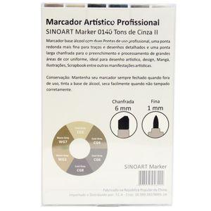 Marcador-Artistico-Profissional-Marker-Sinoart-–-0140---06-Cores-–-Cinza-II-2