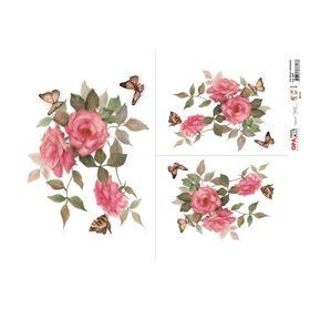 OPAPEL-30X45---Flor-Rosas-e-Borboletas---2483---7898507338138