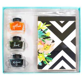 Kit-Caligrafia-Bloco-Tintas-e-pena-SFS061-summer