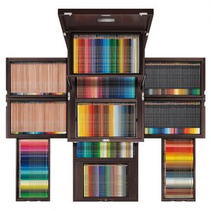 estojo-edicao-limitada-carandache--CARAN-D-ACHE-100TH-ANNIVERSARY-TREASURE-CHEST-OF-COLOUR