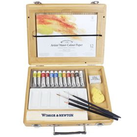 Aquarela-Winsor---Newton-Profissional-Em-tubos-Cx-Madeira-21pc