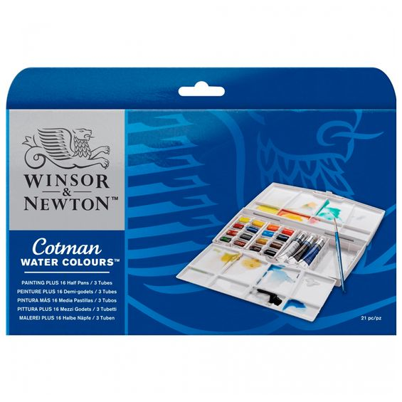 Aquarela-Winsor---Newton-Cotman-Painting-Plus-21-Pecas-0-